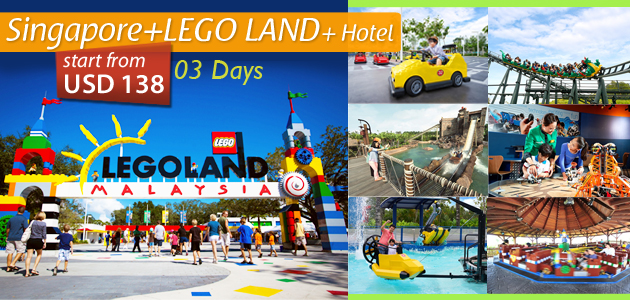 Singapore+LEGOLAND Tour Package+ Hotel (3 DAYS)
